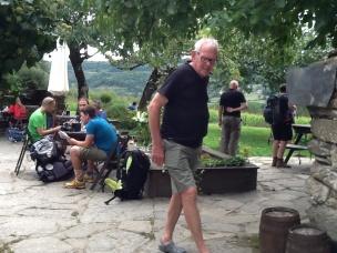 Peter J aan de wandel