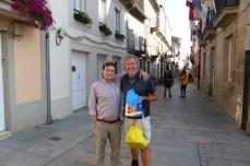 Dit is Manuël die mij naar Sarria heeft gereden. Hij heeft inmiddels twee niertransplantaties achter de rug.
