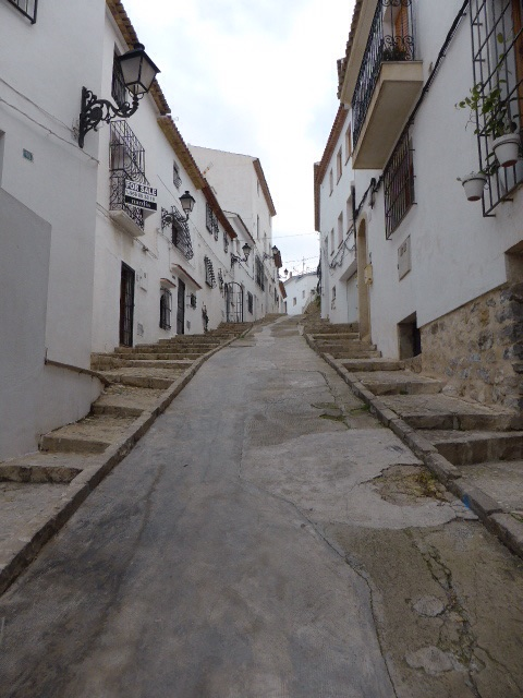 steile straatjes in Altea