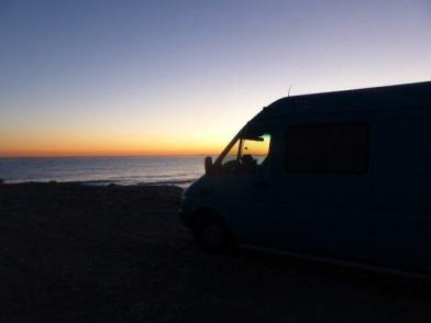 Sprintertje aan de kust