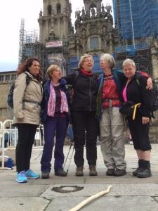 op het plein voor de kathedraal